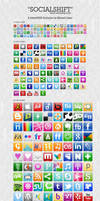 SocialShift Social icon set by emey87
