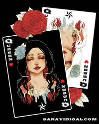 Poker card  Queen pinup by evilshara