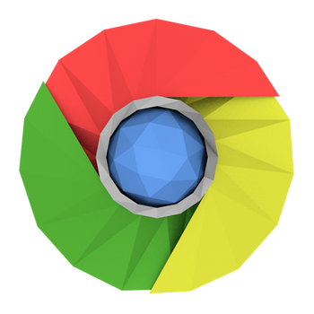 Low-poly Google Chrome Icon by BenWurth
