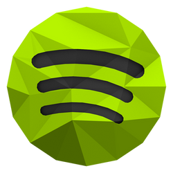 Low-poly Spotify Icon by BenWurth