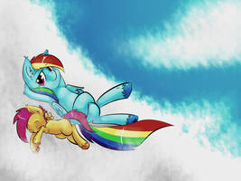 Rainbow Dash and Scootaloo by ToxicUnicorns