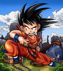 Dragonball - Kid Goku by TimothyJamesF