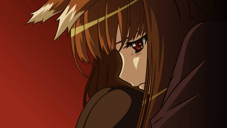 Holo - Spice and Wolf Wallpaper by Starsilvery