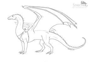 Saphira lineart by Strecno