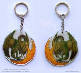 Fire Breathing Dragon Keychain by Strecno