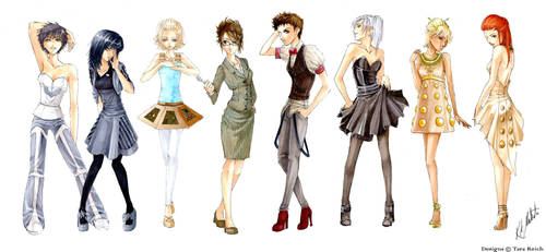 Dr. Who Fashion Collection by Atomic-Clover