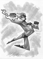 captain marvel sketch by Madatom