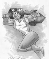 she hulk charges by Madatom