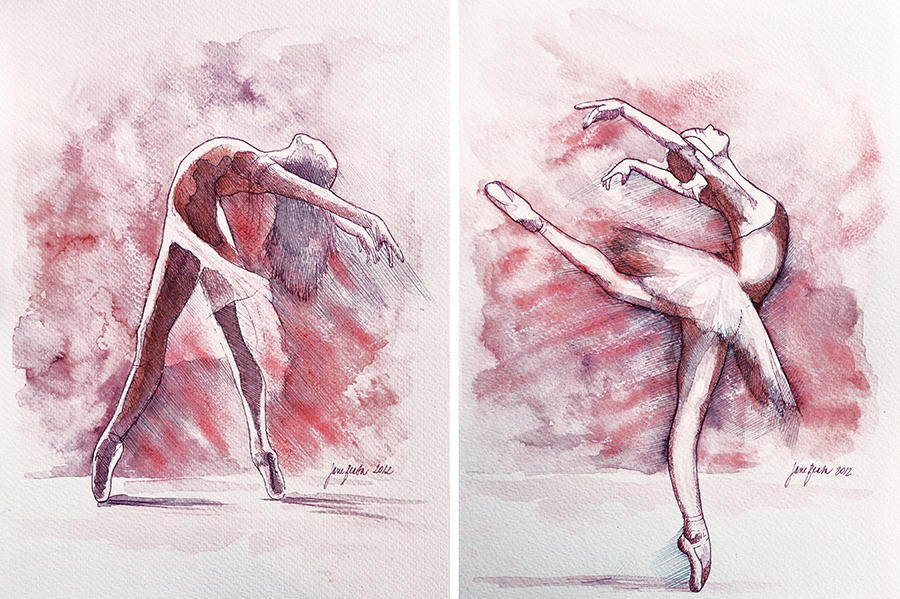 Ballet studies by jane-beata