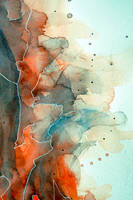 Watercolor texture in red and cyan by jane-beata