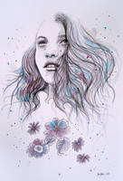 Breeze III, watercolor artwork by jane-beata