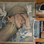 Work in progress, watercolor by jane-beata