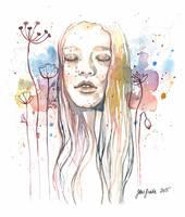 Meditation, watercolor by jane-beata