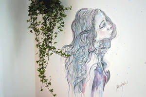 Breeze, wall painting - speed painting video by jane-beata
