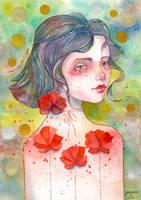 Watercolor fantasy portrait - MIA, video tutorial by jane-beata