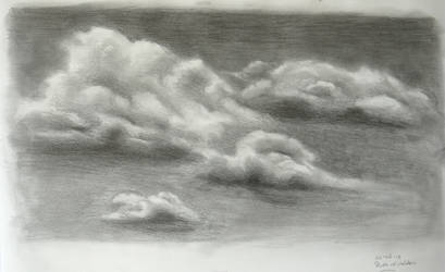 Study of clouds in pencil by RuudtjeField