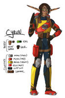 J+D II Character Design: Cyrun by DCRoleplays