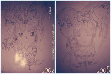 Progress in 3 years by kimineechan