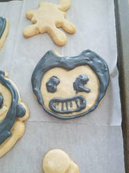 Bendy and the ink Machine cookie :D by Ghostly-Host