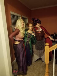 Us as the Sanderson sisters by Ghostly-Host