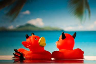 Rubber duck honeymoon by MinayasStudio