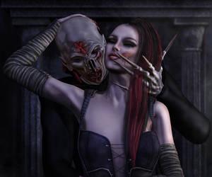Kiss in the dark by MinayasStudio