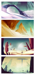 Environment Sketches by SofieGraham