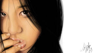 Digital Painted Portrait 1 by Tyleen