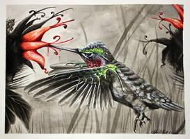 Splash of Color Hummingbird by Tyleen