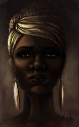 Beautiful Black Woman by Tyleen