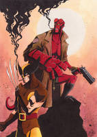 Hellboy and Wolverine by JackPot-84