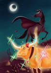 Magical Nanami and Tuxedo Kiki by JackPot-84