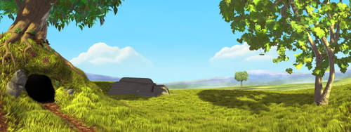 Forest Edge - Background by Ratow