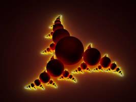 Fractal Sculpture 1 - Dark Red by Ratow