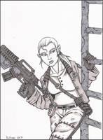 Markova, Shadowrun Dwarf by PatrickHSullivan