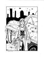 Violet, Shadowrunner Gal inks by PatrickHSullivan