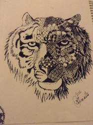 Zentangle Tiger by notsuchanepicperson