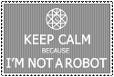 I'M NOT A ROBOT - STAMP by Nauges