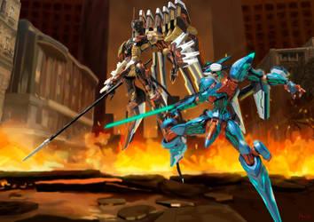 Jehuty vs Anubis by Shinnh