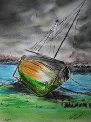 Abandoned fishing boat by weezywonder