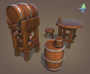 Barrel Tavern Set by BenFlex