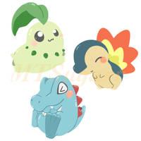 Pokemon: Gen. 2 Starters! by MTSugarr