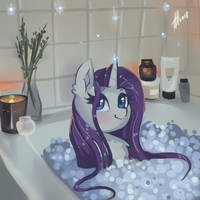 Relax with Rarity by Xjenn9
