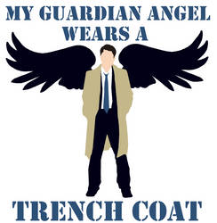 My Guardian Angel Wears A Trench Coat - Digital by dalmation1080