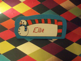 SNOWMAN - Name Card by eleanor-rigby92
