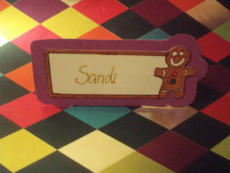 GINGERBREAD MAN - Name Card by eleanor-rigby92