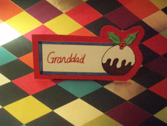 CHRISTMAS PUDDING - Name Card by eleanor-rigby92