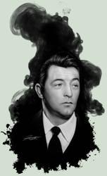 Robert Mitchum Midnight Noir by DJCoulz