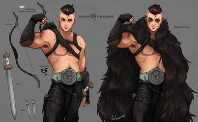 Arlen The Unbound- DnD Character Sheet by DJCoulz