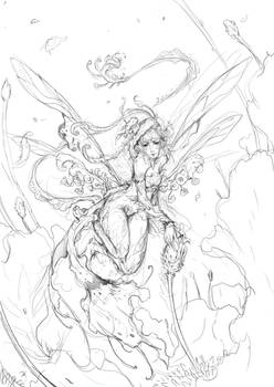 Daily-Chick 02 - pollen pixie sketch by muju